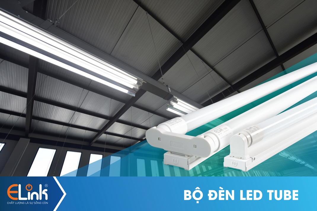 Bộ đèn LED TUBE 18W nhựa
